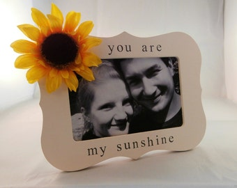 You are my sunshine frame, sunflower  wedding decor, spring decor