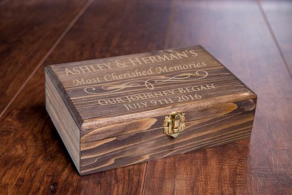 Custom Memory Box Small Rustic Wooden Keepsake Box