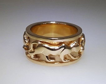 Solid Gold Panther Ring | Wedding Band | Gift ideas | Handmade Jewelry