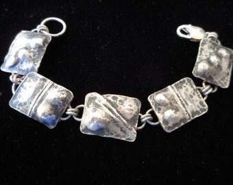 Sterling Silver Medallion Style Bracelet