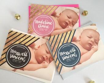Newborn Baby Birth Announcement