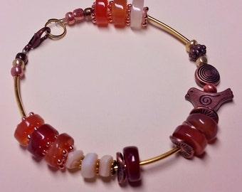 Natural carnelian bracelet.