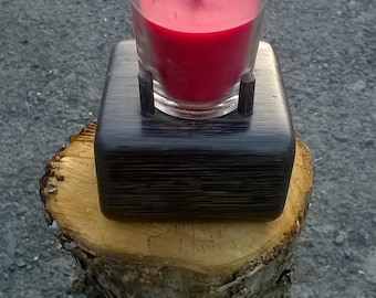 Irish Bog Oak Candle Holder