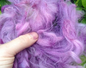 Alpaca and north Ronaldsay hand combed roving nests 100g