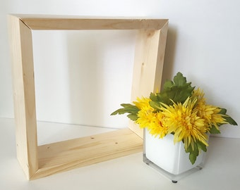 Unfinished Box - Wood Crafts -  DIY Wood - Wood - Unfinished Shadow Box - Untreated Wood - Unfinished Wood - Craft Supplies - Wood Frame