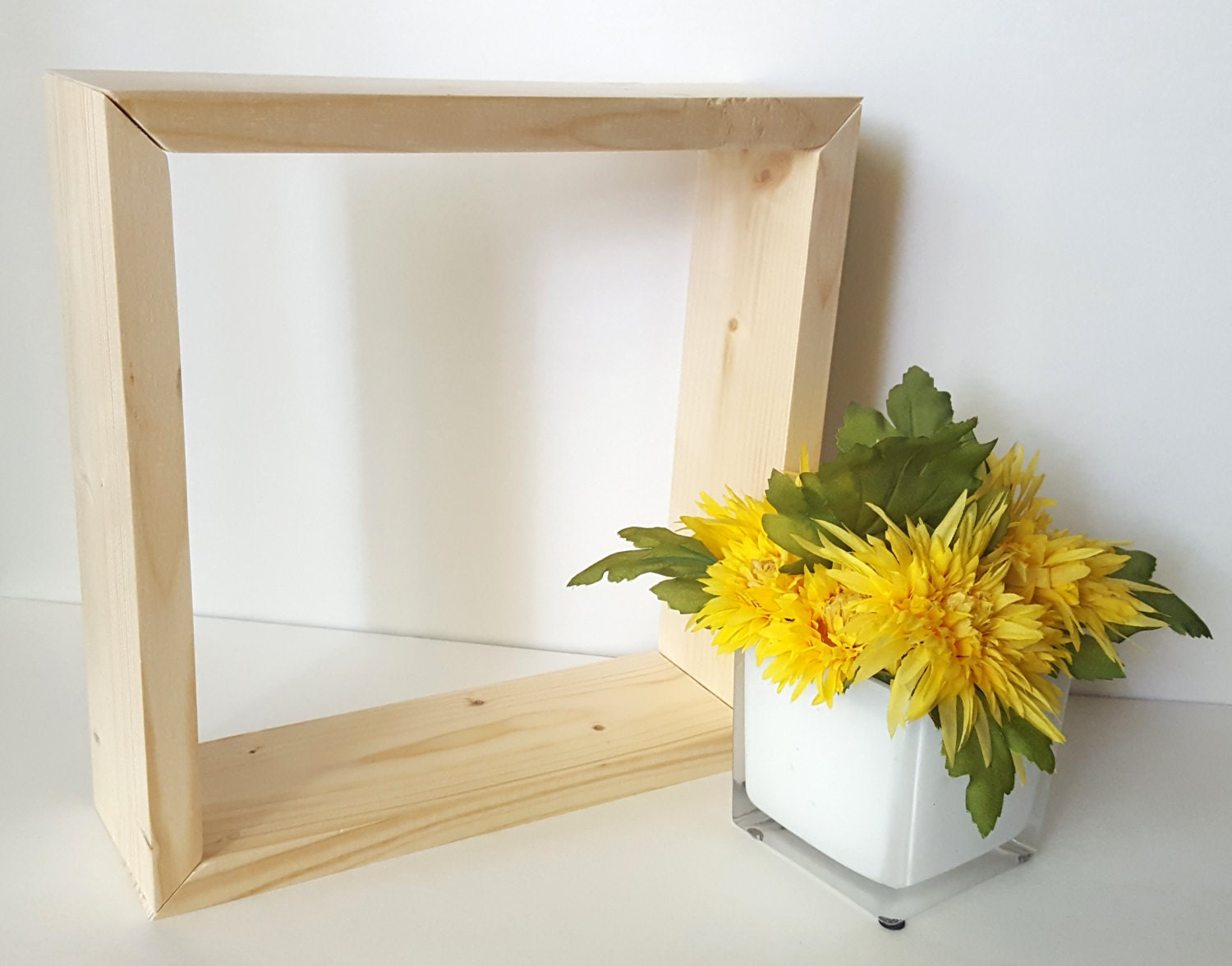 Unfinished wood picture frames craft - Unfinished Box Wood Crafts Diy Wood Wood Unfinished Shadow Box Untreated