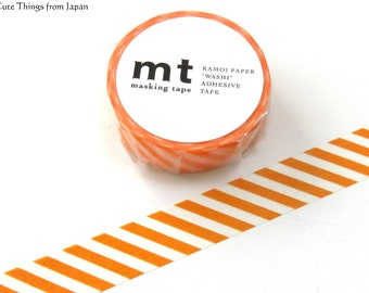 mt Orange Stripes Washi Tape, Masking Tape, Japanese Tape [MT01D246]
