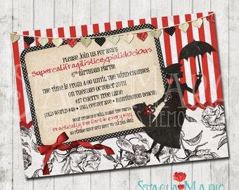 Mary Poppins Birthday Invitation