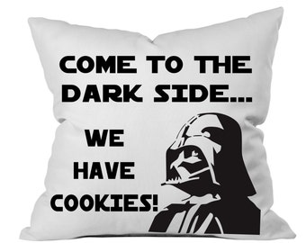 Star Wars Pillow, Darth Vader Pillow, We have cookies