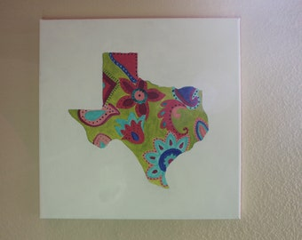 Hand Painted Paisley Texas