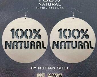 100% Natural wood earrings