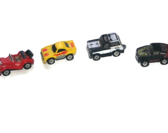 1980s Set of Micro Mini Racers Toy Cars