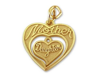 20pcs Gold Mother Daughter Mother's day Charms Pendants Findings