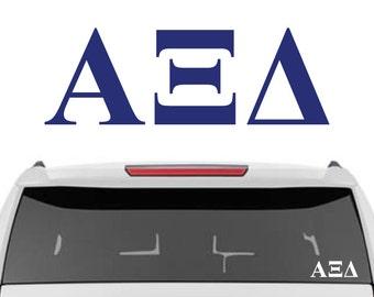 Alpha Xi Delta Decal   Sorority Car Decals, Sorority Vinyl Decal, Sorority Laptop Decal, Sorority Decal