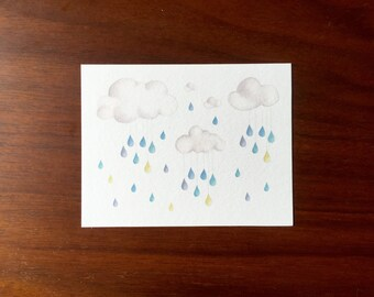 Raindrops Post cards multipack post cards letter card mailing postal holiday travel notecard notes logo free clouds rainbow