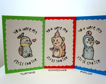 Pokemon Starter greeting cards