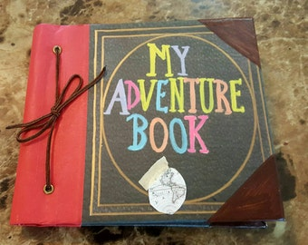 "My Adventure Book from the Movie Up Disney Autograph Book, Travel Journal, or Scrapbook 6"" x 6"""
