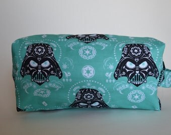 Sugar Skull Father Medium Knitting & Crochet Project/Toiletry Box Bag