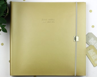 Jumbo Personalised Recycled Leather Wedding Photo Album