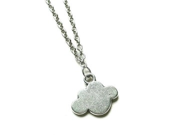 Silver Cloud Necklace // Cloud Necklace // Every Cloud has a Silver Lining // Minimalist Jewelry // Charm Necklace