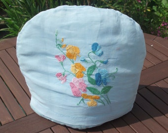 Vintage Hand Embroidered 1930's Tea Cosy
