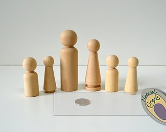 6 Piece Wooden Family Set