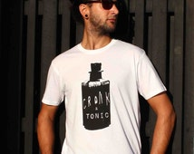Cronk and Tonic, Mens T-shirt, poison bottle,