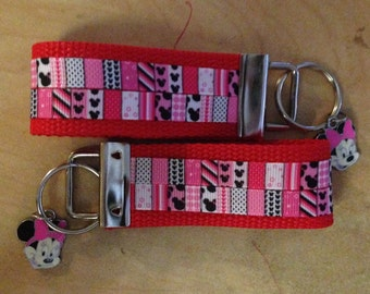 SPECIAL *** Minnie Mouse key fob with Minnie pendant *** SPECIAL