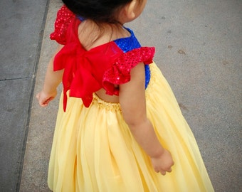 Princess Snow White Sequin and Tulle Maxi Dress