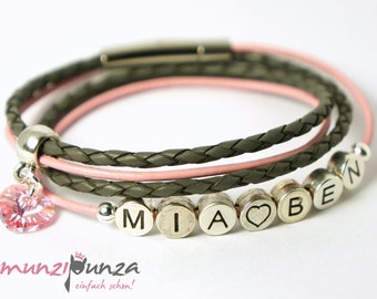 LEATHER name bracelet article 139