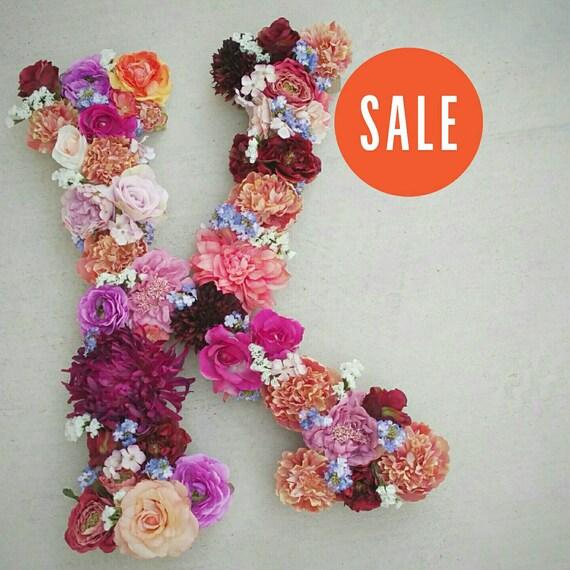 Sale monogram letter flower by thefauxbouquets