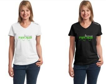 BECAUSE PANCAKES Preppy TEES T-Shirt King