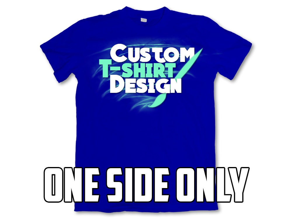 Custom t shirts single side only full color dye sublimation for Custom single t shirts