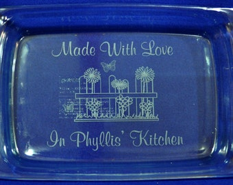 Mother's Day Gifts ~ Bridal Shower Gift ~ Gift For Mom ~ Engraved Baking Pan ~ Personalized Pan ~ Gift For Grandma ~ Engraved Gift For Mom ~