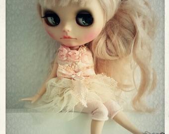 Ooak luxury ballet dress for Blythe, unique!