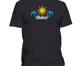 Aloha! Men's T-shirt. Premium quality. Ringspun soft.