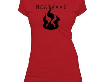 Heatwave. One Word. Ladies fitted t-shirt.
