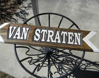 Street Signs, Directional, Custom Designed, Custom Carved, Cedar, Refelective Finish, UV Protective, Name Sign, Rustic, Reclaimed Cedar.