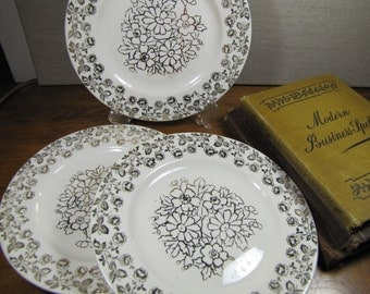 King Quality Gold Accent Dessert Plate - Set of Three (3)