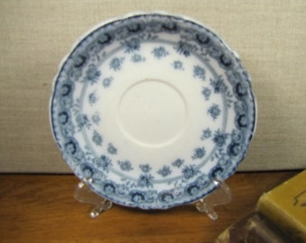 Vintage Bourne & Leigh Saucer - Erie - Blue and White Floral