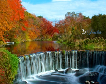 Shannock Falls ~ Rhode Island, New England, Autumn, Foliage, Waterfall, Fall Foliage, RI Photos, Autumn Photography