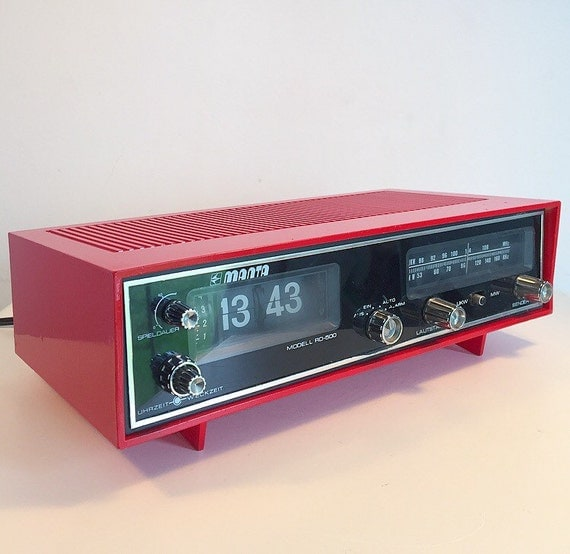 Vintage Flip Clock Radio From German Manta 1970