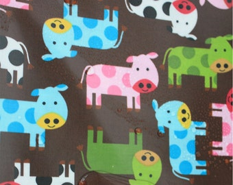 Cow Laminated Cotton Fabric By The Yard