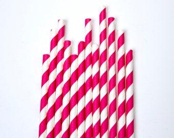 Dark Pink Straws