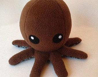 Cuddly Fleece Octopus Plush - Brown