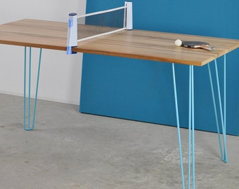 Blue Spoke of table leg