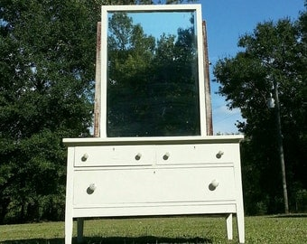 Sale!!!! Early 1900's Antique Dresser with Mirror from Upham Mfg Co Marshfield, Wisconsin