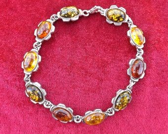 Bracelet  Baltic amber three colors
