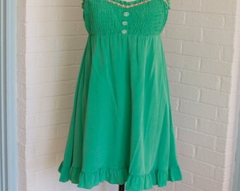 Vintage Green Baby Doll Dress by Betsey Johnson