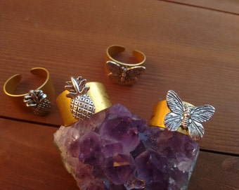 Gypsy Gold & Silver Pineapple or Butterfly Rings